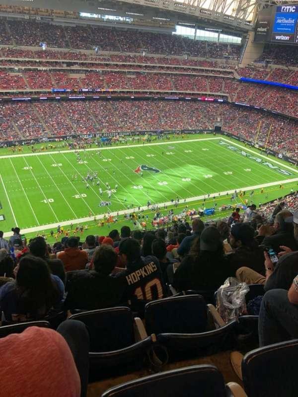NRG Stadium, secção: 638, fila: S, lugar: 22
