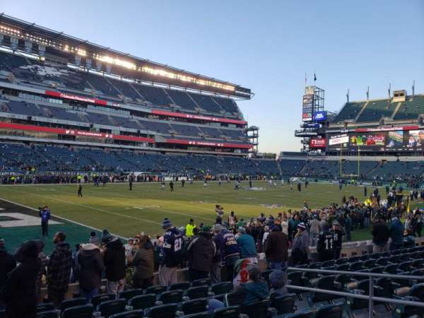 Lincoln Financial Field, secção: 115, fila: 9, lugar: 8