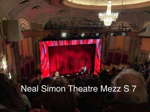 Neil Simon Theatre, secção: Mezzanine L, fila: S, lugar: 7