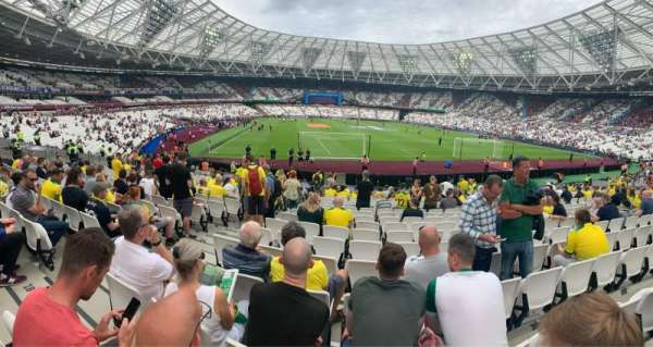 London Stadium, secção: 118, fila: 19, lugar: 91