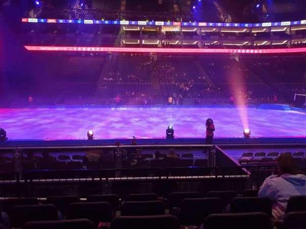 The O2 Arena, secção: 102, fila: G, lugar: 61
