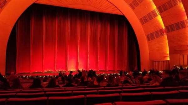 Radio City Music Hall, secção: Orchestra 5, fila: ZZ, lugar: 508
