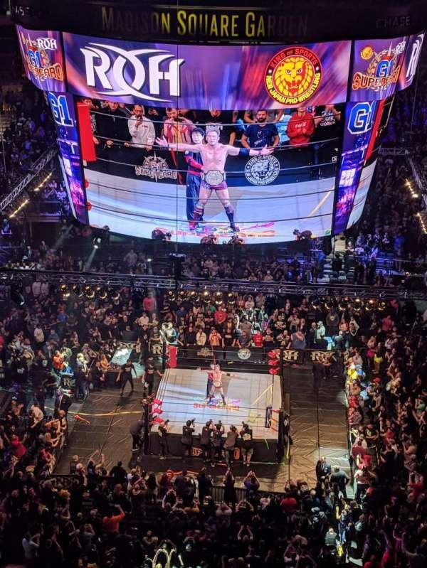 Madison Square Garden, secção: 326, fila: 1