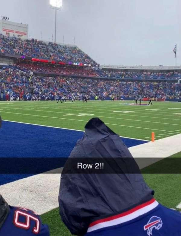 Buffalo Bills Stadium, secção: 117, fila: 2, lugar: 3