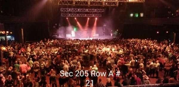 Revention Music Center, secção: 205, fila: A, lugar: 21