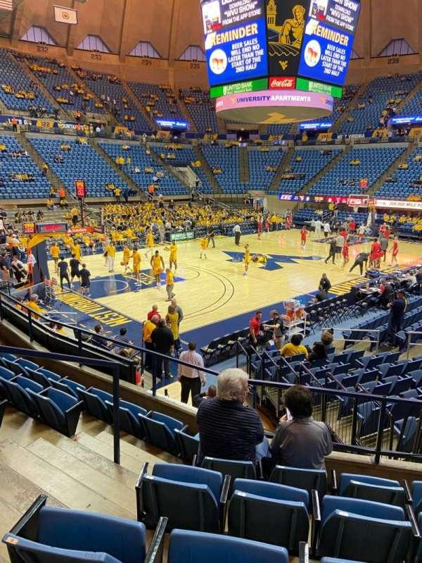 WVU Coliseum, secção: 112, fila: F, lugar: 5
