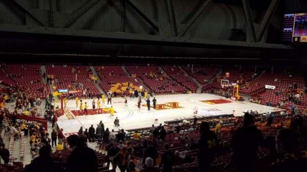 Williams Arena, secção: 108, fila: 28, lugar: 10