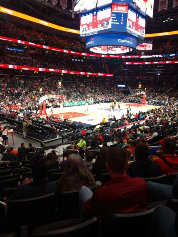 Capital One Arena, secção: 108, fila: O, lugar: 14