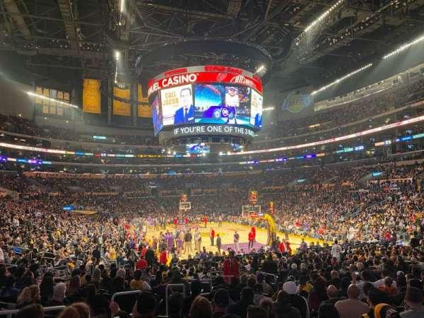 Staples Center, secção: 116, fila: 16, lugar: 26