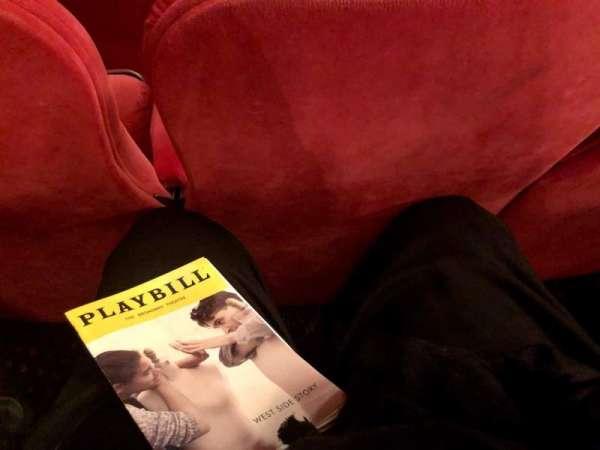 Broadway Theatre - 53rd Street, secção: Orchestra, fila: G, lugar: 10