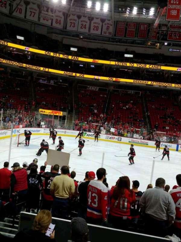PNC Arena, secção: 106, fila: K, lugar: 12