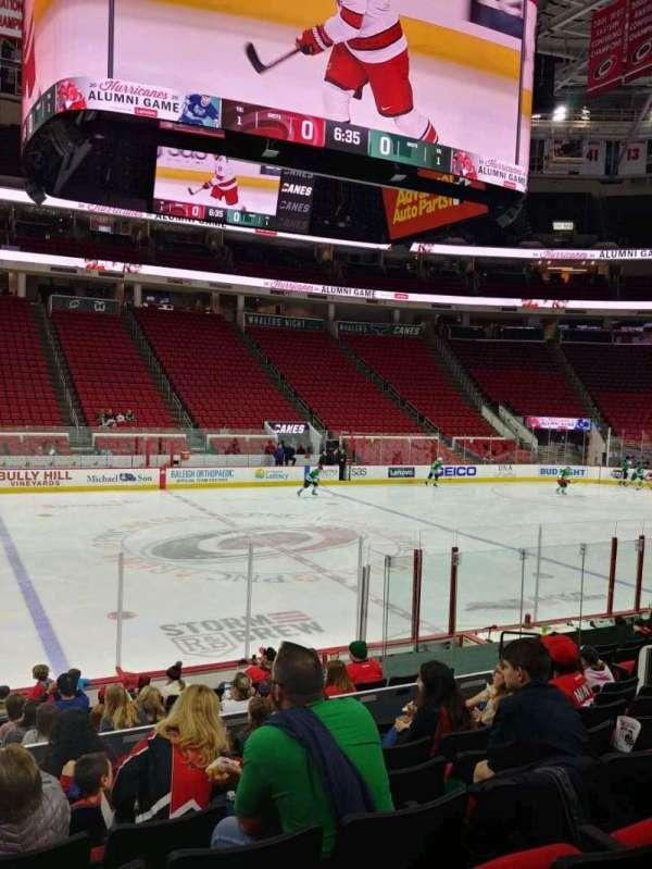 PNC Arena, secção: 120, fila: N, lugar: 13