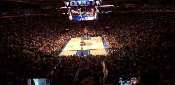 Madison Square Garden, secção: 204, fila: Bs, lugar: 16