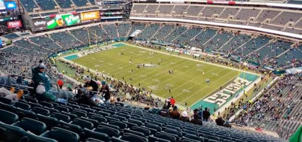 Lincoln Financial Field, secção: 207, fila: 28, lugar: 14
