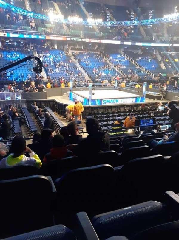 Greensboro Coliseum, secção: 109, fila: GG, lugar: 3