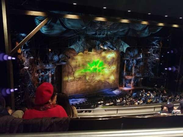 Gershwin Theatre, secção: Rear Mezzanine L, fila: F, lugar: 31
