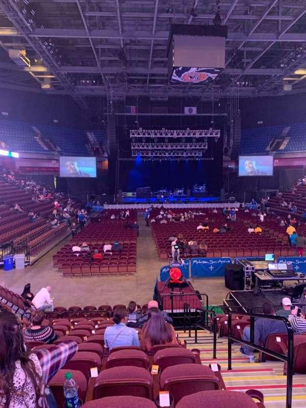 Mohegan Sun Arena, secção: 21, fila: N, lugar: 2