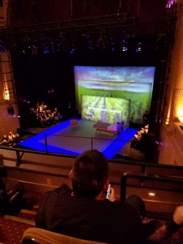 Manhattan Theatre Club at the New York City Center, secção: mezzanine right, fila: a, lugar: 4