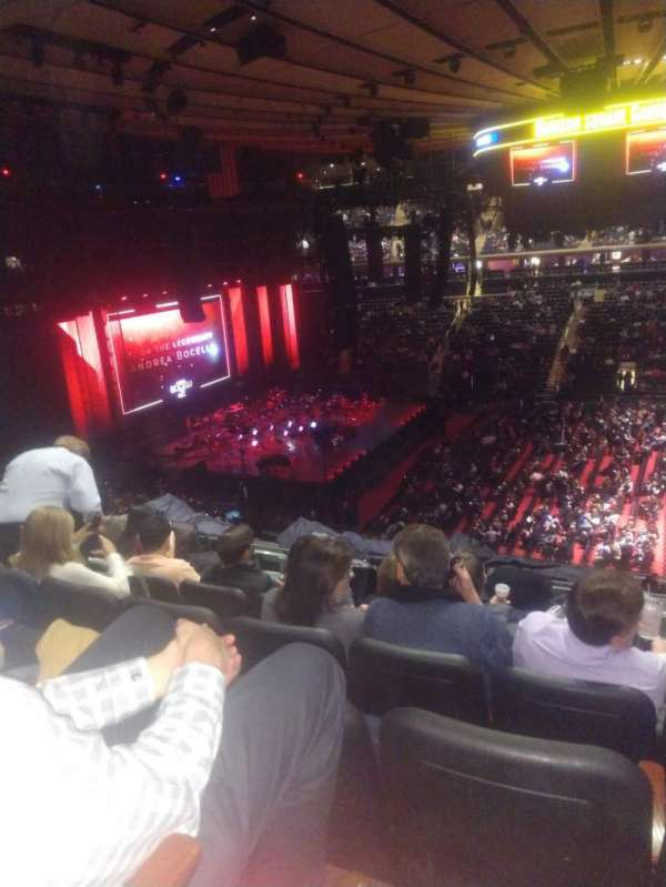 Madison Square Garden, secção: 224, fila: 7, lugar: 16