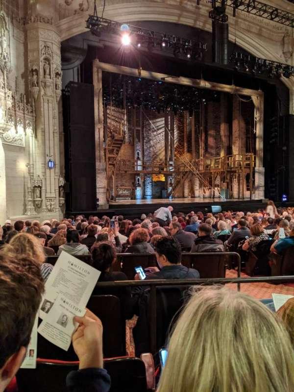 Orpheum Theatre (San Francisco), secção: Orchestra L, fila: V, lugar: 19