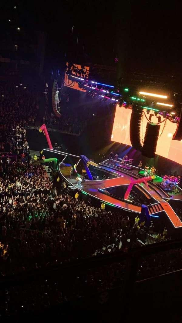 The O2 Arena, secção: 419, fila: A, lugar: 910