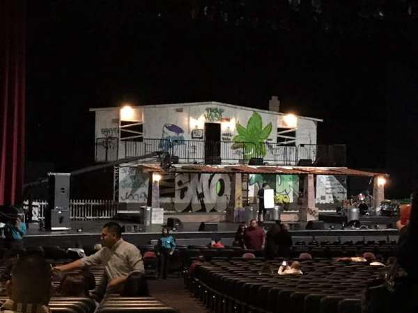 Microsoft Theater, secção: Orchestra Center Left, fila: KK
