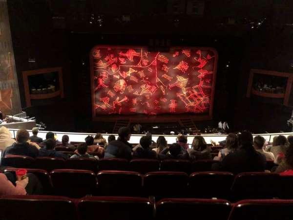 Minskoff Theatre, secção: Mezzanine, fila: H, lugar: 119