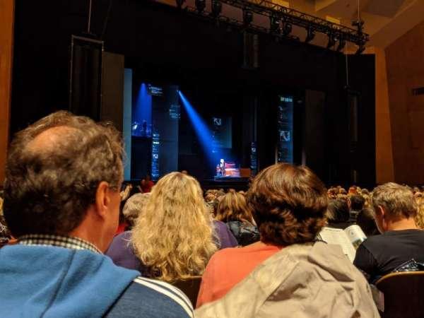 Keller Auditorium, secção: Orchestra B, fila: M, lugar: 1