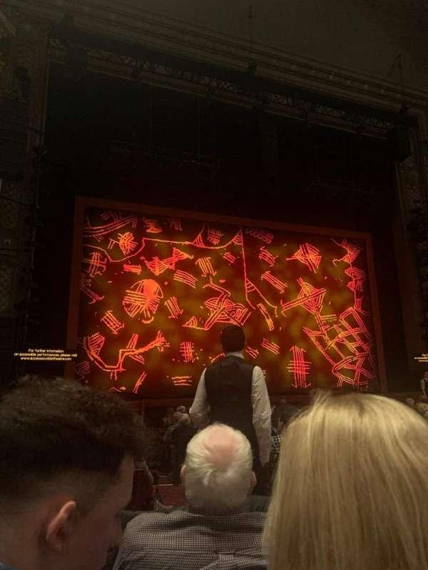 Edinburgh Playhouse, secção: Stalls, fila: P, lugar: 37