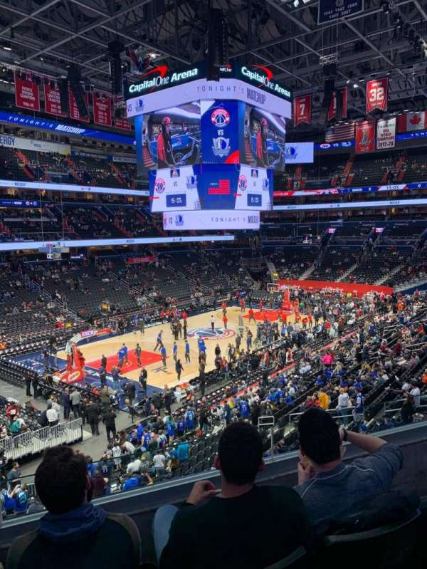 Capital One Arena, secção: 226, fila: C, lugar: 4