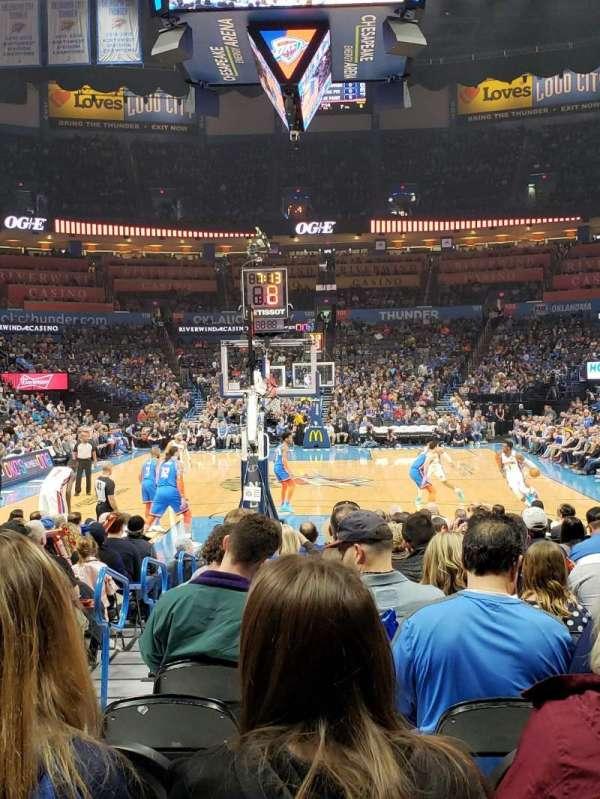 Chesapeake Energy Arena, secção: 110, fila: QQ, lugar: 11