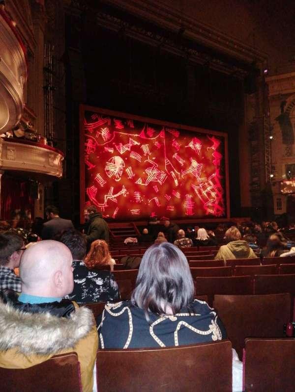 Edinburgh Playhouse, secção: Stalls, fila: U, lugar: 50
