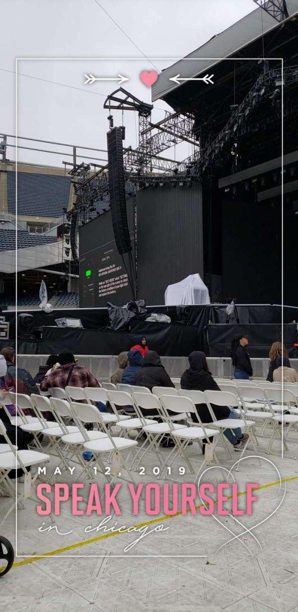 Soldier Field, secção: A2, fila: 16, lugar: 1
