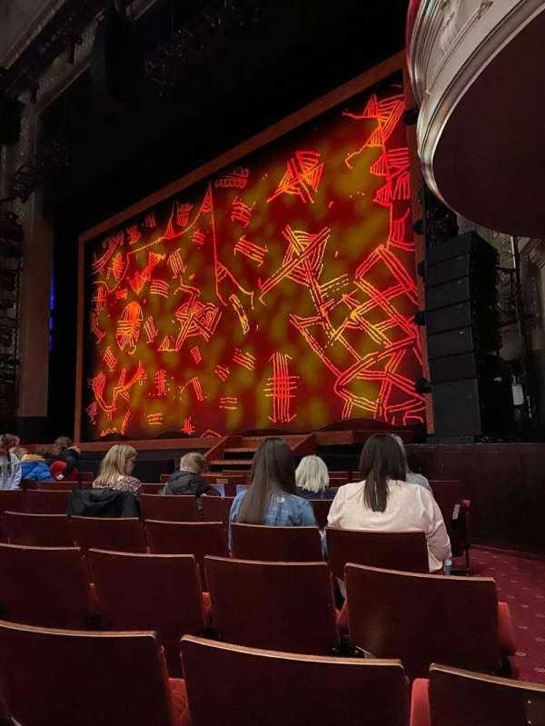 Edinburgh Playhouse, secção: Stalls, fila: J, lugar: 3