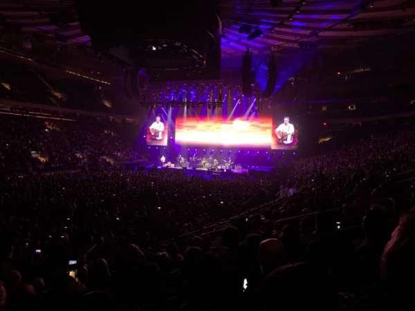 Madison Square Garden, secção: 104, fila: 10, lugar: 10