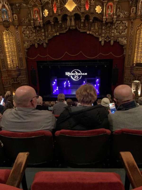 The Fabulous Fox Theatre (St. Louis), secção: Lower Balcony 4, fila: J, lugar: 110