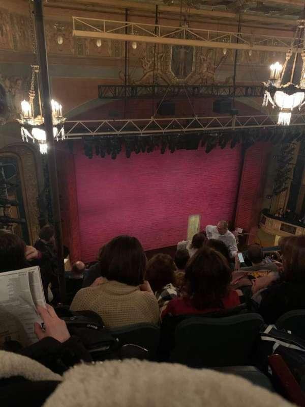 Shubert Theatre, secção: Balcony L, fila: G, lugar: 13