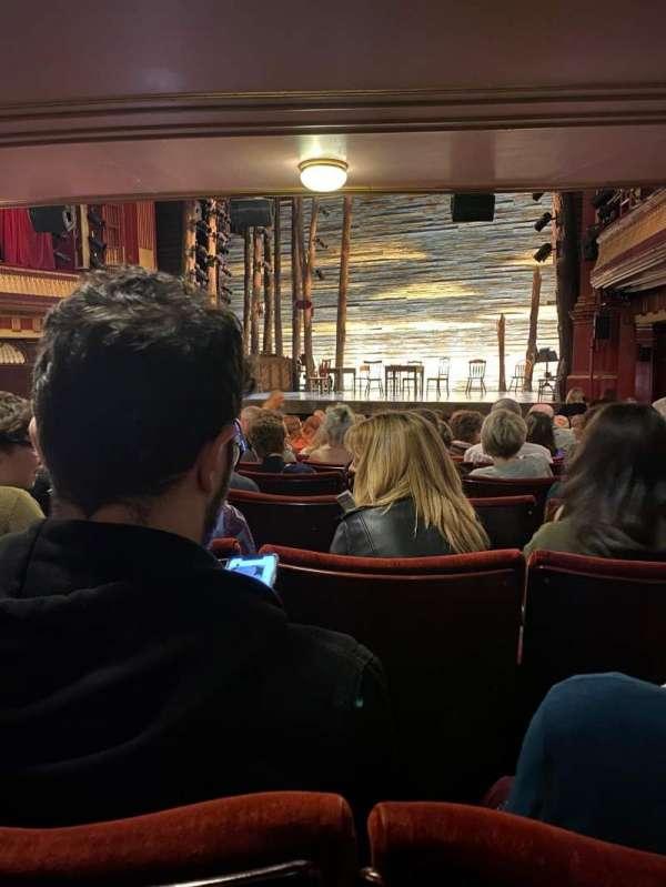Phoenix Theatre, secção: Stalls, fila: P, lugar: 4