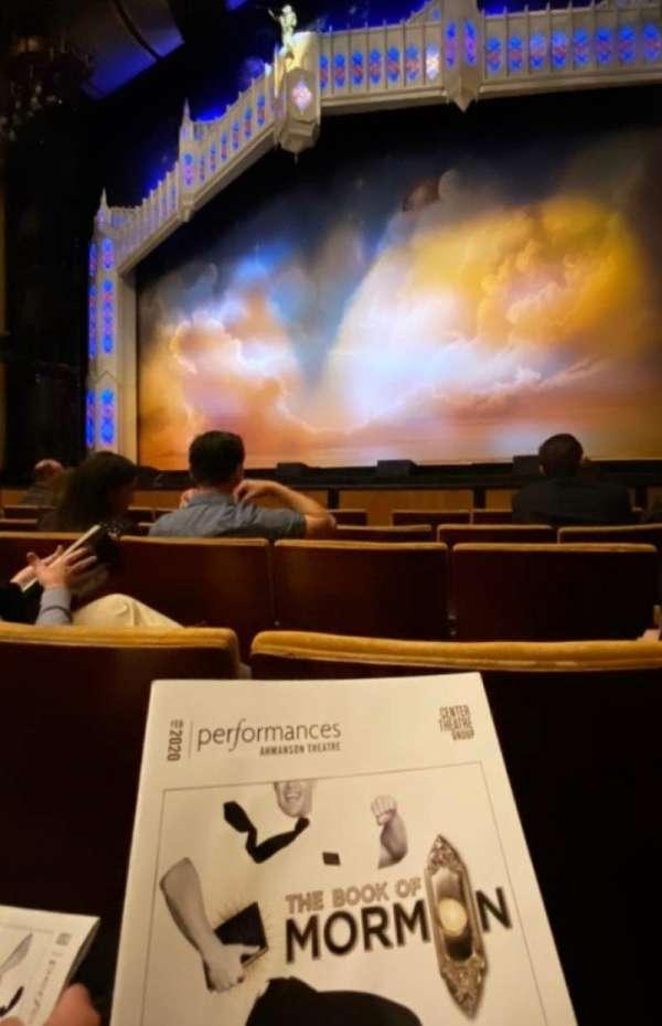 Ahmanson Theatre, secção: Orchestra, fila: E, lugar: 7