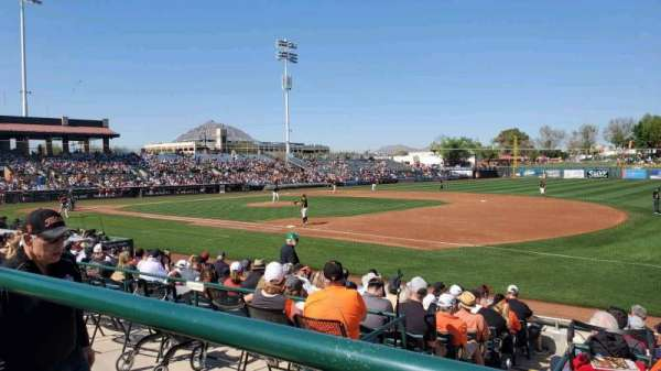 Scottsdale Stadium, secção: 216, fila: J, lugar: 3