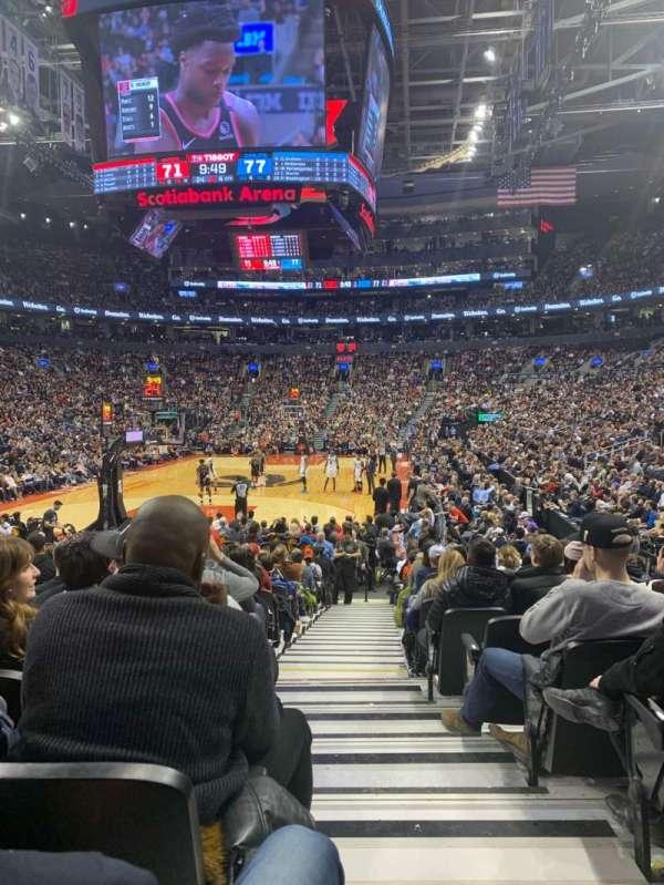 Scotiabank Arena, secção: 102, fila: 11, lugar: 1