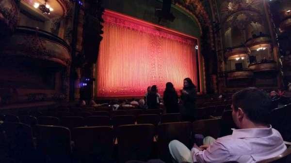 New Amsterdam Theatre, secção: orchestra l, fila: J, lugar: 7