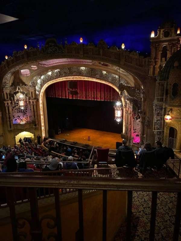 Coronado Theatre, secção: Ub, fila: 1, lugar: 4