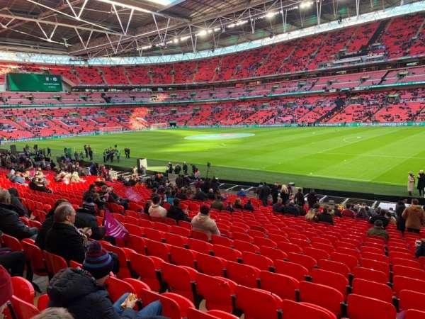 Wembley Stadium, secção: 140, fila: 24, lugar: 206