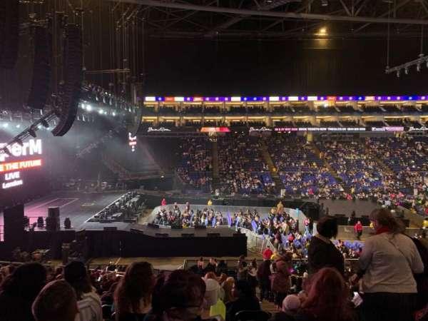 The O2 Arena, secção: 101, fila: Y, lugar: 26