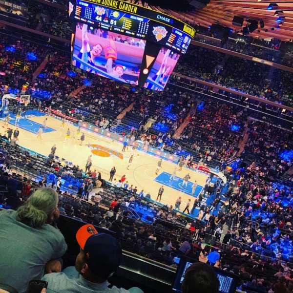 Madison Square Garden, secção: 225, fila: 4, lugar: 22