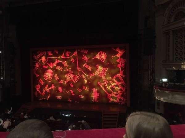 Edinburgh Playhouse , secção: Circle, fila: B, lugar: 16