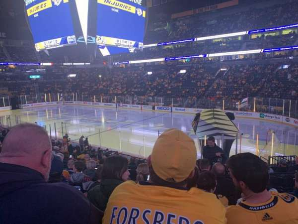 Bridgestone Arena, secção: 118, fila: H, lugar: 6