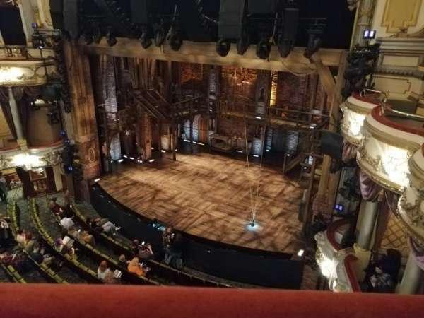 Victoria Palace Theatre, secção: Grand Circle, fila: A, lugar: 4