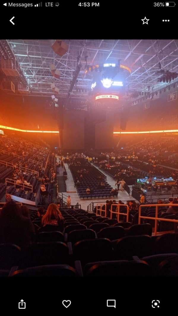 Greensboro Coliseum, secção: 115, fila: SS, lugar: 16